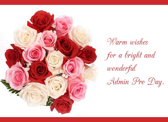 Warm Wishes For Admin Pro...