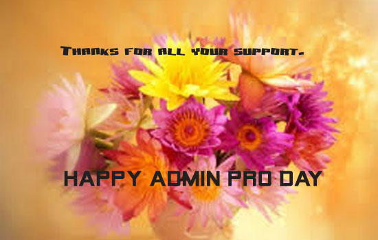 Very Happy Admin Pro Day!