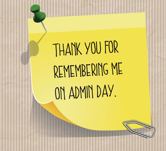 Thank You Quotes For Administrative Professionals Day: Thank Your Boss For Remembering You. Free Thank You ECards