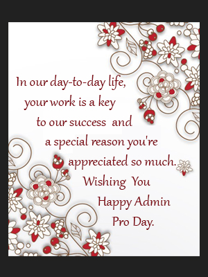 Happy Admin Day!