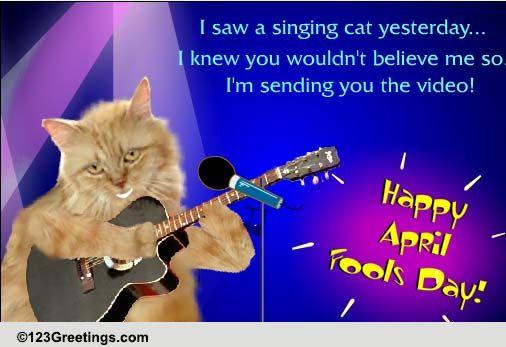April Fools' Singing Cat! Free Happy April Fools' Day ... | 506 x 347 jpeg 58kB