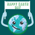 Earth Day - Animated Smiling Earth.