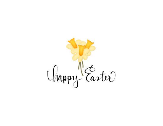 Happy Easter - Daffodils.