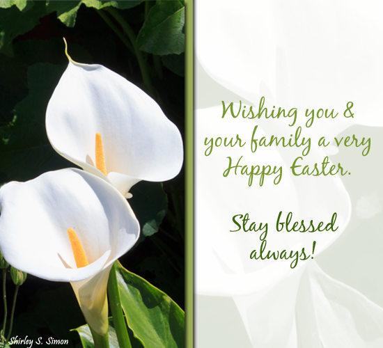 Blessings And Easter Wishes.