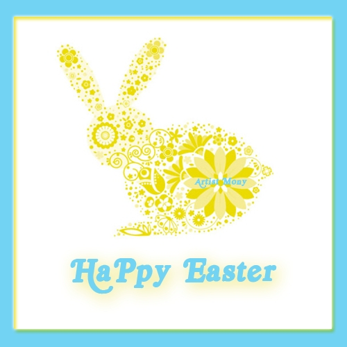 Easter Yellow Bunny.