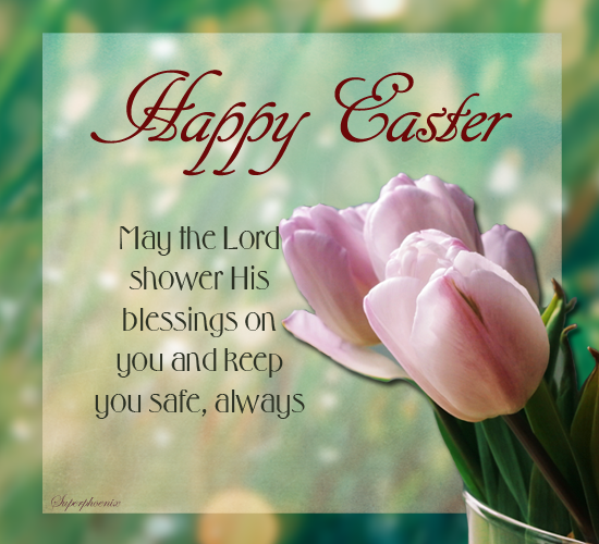 for a safe and blessed easter  free happy easter ecards