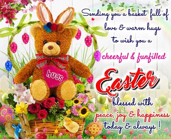 Easter Love Hugs Free Happy Easter eCards Greeting Cards – Easter Greeting Cards