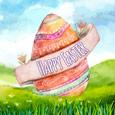 Easter In Watercolor.