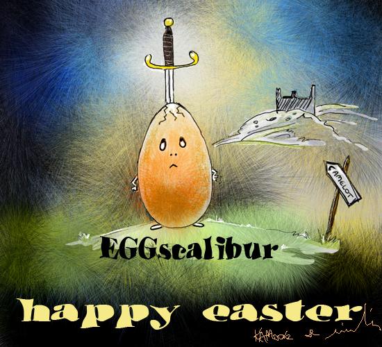 Eggscalibur.