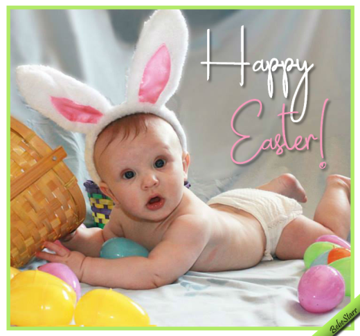 Baby bunny ears free fun ecards greeting cards 123 greetings cute baby sends this simple greeting m4hsunfo