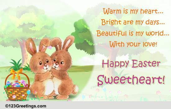 Happy Easter Sweetheart! Free Love ECards, Greeting Cards
