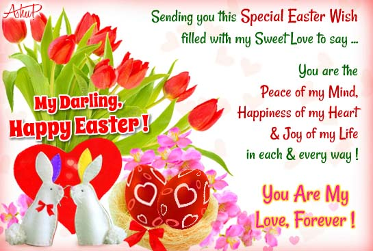 Romantic Easter Wishes. Free Love ECards, Greeting Cards