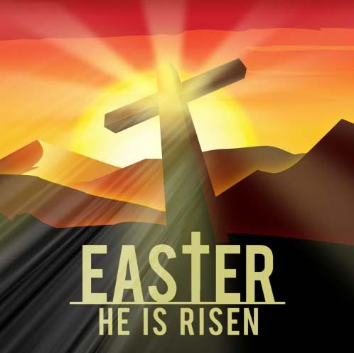 Easter He Is Risen Free Religious Ecards Greeting