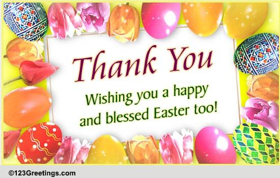 send an easter thank you  free thank you ecards  greeting
