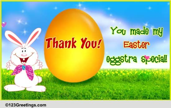 an easter thank you  free thank you ecards  greeting cards