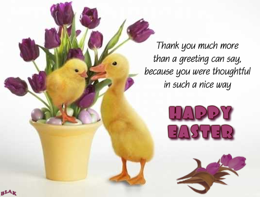 easter thank you cards  free easter thank you ecards