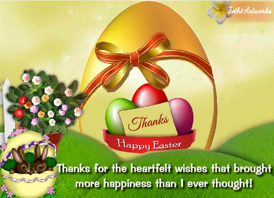 thanks for all the easter happiness  free thank you ecards