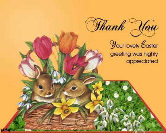 thank you easter bunnies  free thank you ecards  greeting