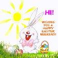 A Happy Easter Weekend Ecard.