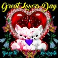 A Cute Great Lovers Day Ecard For You.