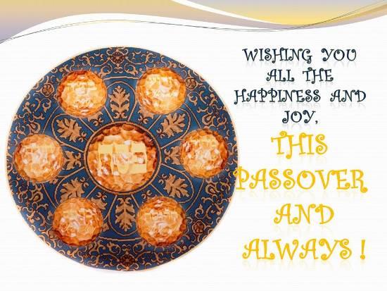 Joyful Passover.