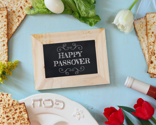 Seder Filled Passover Wishes.