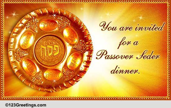 a passover seder invitation  free seder ecards  greeting
