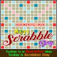 My Scrabble Day Card For You.