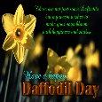 A Happy Daffodil Day Ecard.