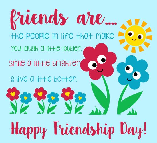 Fun Friendship Flowers.