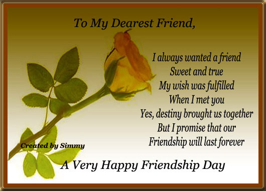 Friendship Day Wish. Free Happy Friendship Day eCards, Greeting Cards  123 G...