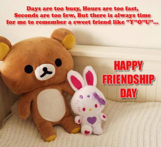 Remembering A Sweet Friend Like You!