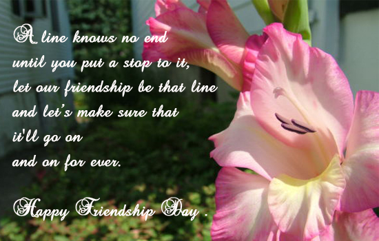 A line knows no end free happy friendship day ecards greeting a line knows no end free happy friendship day ecards greeting cards 123 greetings m4hsunfo