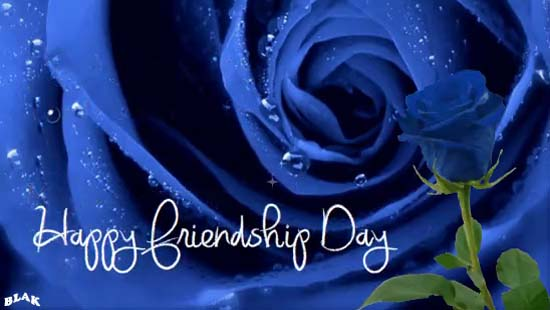 Blue Rose Of Friendship Free Happy Friendship Day Ecards