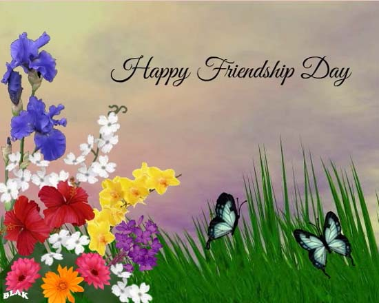 Friends Are Flowers. Free Happy Friendship Day eCards, Greeting Cards | 123 Greetings