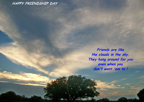 Friendship Day Thoughts To You.