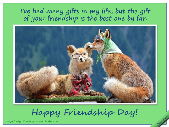 The Gift Of Your Friendship.
