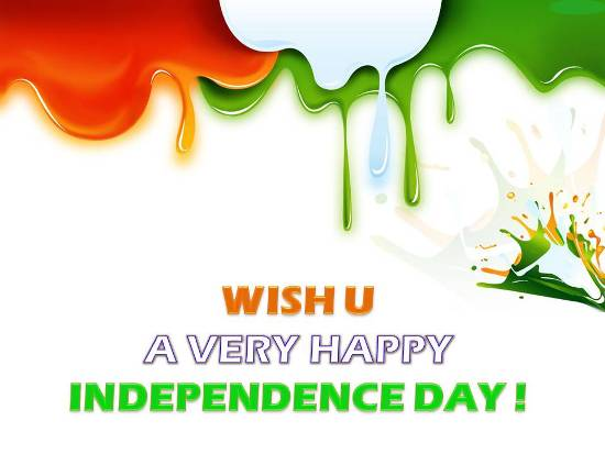 Joyful Greetings On Independence Day.