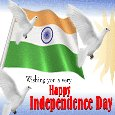 A Happy Independence Day Card.