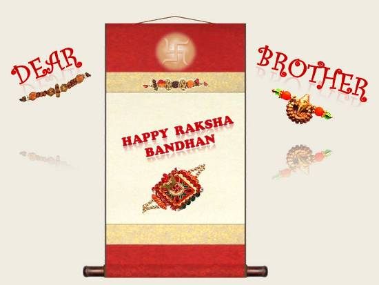 Rakhi Greetings For Dear Brother.