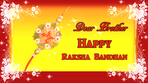 Happy Raksha Bandhan Greeting Card.