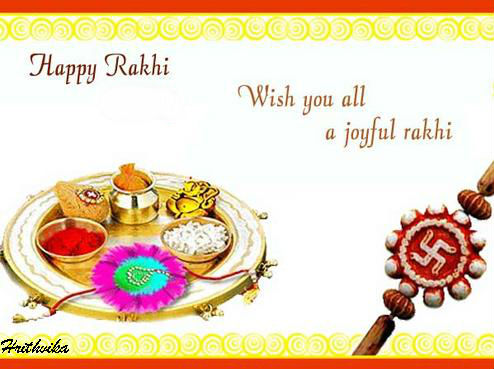 Joy-filled Rakhi.