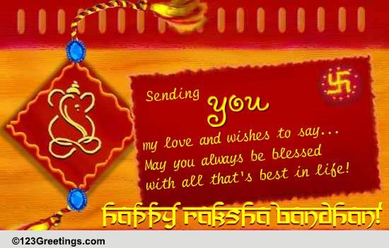 raksha bandhan cards  free raksha bandhan wishes  greeting