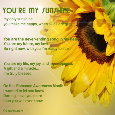 Home : Events : Romance Awareness Month 2019 [August] - You Are My Sunshine.