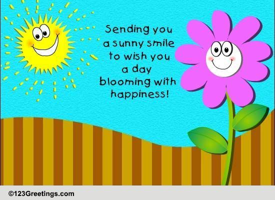 Strange Sending A Sunny Smile Free Smile Month Ecards Greeting Personalised Birthday Cards Epsylily Jamesorg