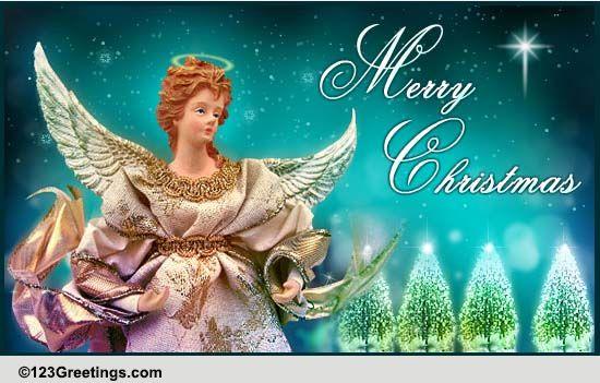send christmas angel blessings free angel ecards