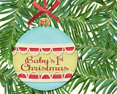 Baby S First Christmas Free Family Ecards Greeting Cards 123