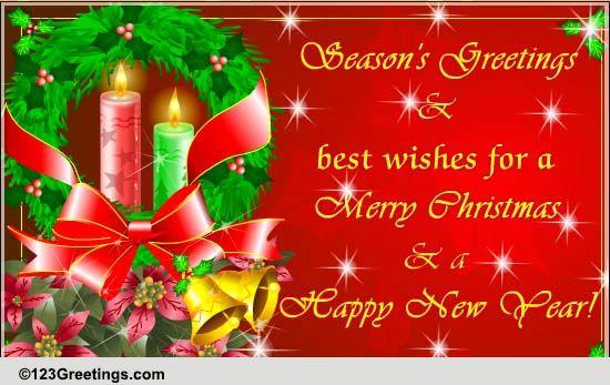 christmas  season's greetings free family ecards