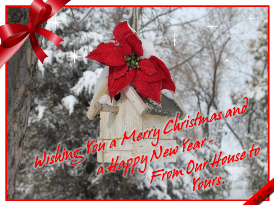 Merry Christmas From Our Home To Yours.From Our House To Yours Free Friends Ecards Greeting Cards