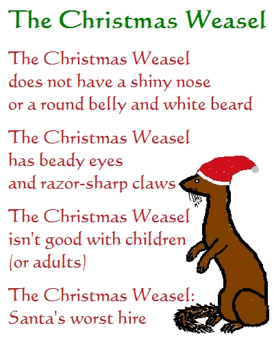 The Christmas Weasel Christmas Poem Free Humor Amp Pranks